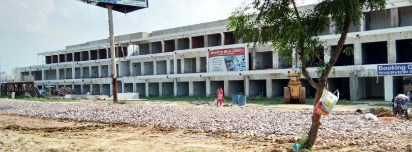 amrapali riverview plaza noida extension, commercial shop